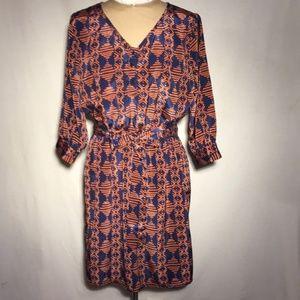 Para Vida Tribal Print Dress